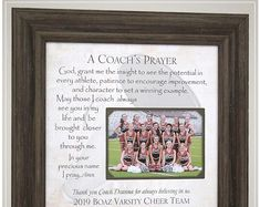 Cheer Coach Thank You Gift for End of Season Team Gift