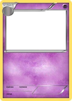 Blank Fire Pokemon Cards Blank Pokemon Card Crafts In