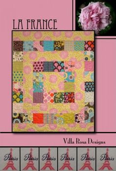 La France Quilt Pattern from Villa Rosa Designs by SewElegantly on Etsy https://www.etsy.com/listing/163386340/la-france-quilt-pattern-from-villa-rosa
