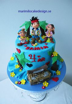 jake-and-the-neverland-pirates-cake.jpg 450×648 pixels