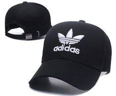 06819619715 Men s   Women s Adidas The Originals Tre-Foil Logo Curved Dad Hat - Black    White. Carmelia Spiegel · Hats