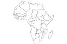 17 Blank Maps of the U. and Other Countries: The Map of Africa Tatoo Africa, Afrika Tattoos, Printable Maps, United States Map, Africa Map, Other Countries, Us Map, Cartography, Bullet Journal