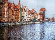 Gdańsk, Kamienice, Rzeka, Motława, HDR