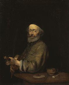 Gerard ter Borch, Violonist (ca. 1665, The Hermitage, Saint Petersburg)