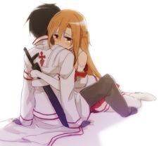 Sword Art Online Asuna and Kirito Wallpaper Animes, Animes Wallpapers, Arte Online, Online Art, Anime Love Couple, Cute Anime Couples, Manga Anime, Sword Art Online Wallpaper, Kirito Asuna