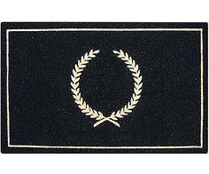 Large Black Crest Doormat