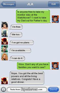 Superman | Texts From Superheroes #JusticeLeague #Batman #WonderWoman