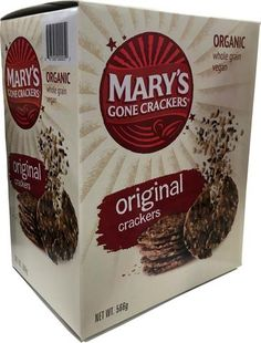 Mary's Gone Crackers Organic Original Crackers - Organic Vinegar, Whole Grain Brown Rice, Joyful, Crackers, Pastries, Real Food Recipes, Feel Good, Connection, Chips