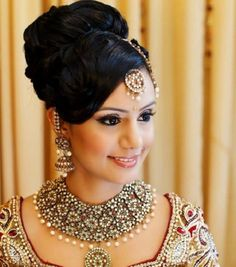 Indian bridal hairstyle for wedding 8