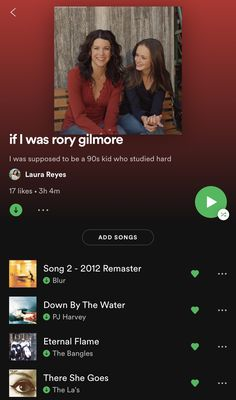 Music Mood, Mood Songs, Rory Gilmore Style, Babette Ate Oatmeal, Playlists, Playlist Names Ideas, Gilmore Girls Quotes, Glimore Girls, Music Recommendations