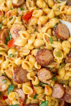Kilbasa Sausage Recipes, Sausage Crockpot Recipes, Sausage Recipes For Dinner, Smoked Sausage Recipes, Pasta Dinner Recipes, Easy Pasta Dinners, Kielbasa Pasta Recipes, Sausage Meals, Apple Sausage