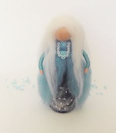 Waldorf Needle Felted Winter Fairy Snezhana by Valyashki on Etsy