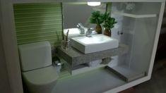 Quadro com LED de banheiro moderno em mi