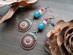 Crochet Earrings, Drop Earrings, Jewelry, Fashion, Moda, Jewlery, Jewerly, Fashion Styles, Schmuck