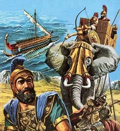 Hannibal's March of Vengeance Artist: Roger Payne Ancient Near East, Ancient Rome, Ancient History, Carthage, Historical Art, Historical Pictures, War Elephant, Punic Wars, Classical Antiquity