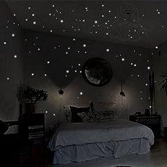 Amazing Wandkings Leuchtpunkte f r Sternenhimmel extra starke Leuchtkraft Wandsticker Leuchtaufkleber Fluoreszierend und im