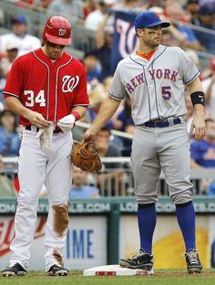 Bryce Harper and David Wright. http://www.wonderfulsnapbackswholesale.com/