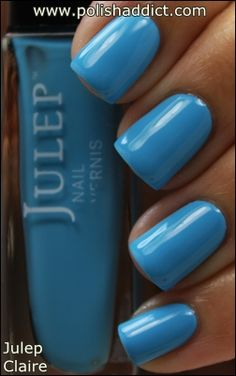 Julep Claire - i was looking for a blue like this the other day when i did some rainbow nails.