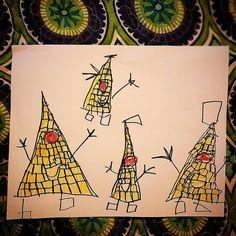 ...arte infantil en el #diadelniño les presentamos al señor triángulo y su familia #cosasdeniños #cosasdepapa