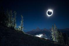 Noah Wetzel shot Chris Bule riding under the Total Solar Eclipse in Teton Valley, Wyoming, USA. | @Popular Science.