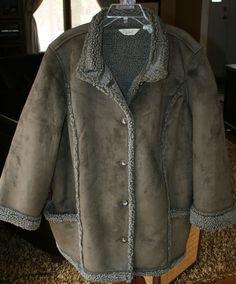 LL Bean Women's Faux Fur Shearling long Coat size 2X xx 2X-Large #LLBean #BasicCoat