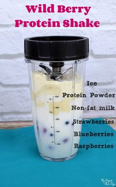 wild berry protein shake wild berry protein shake – Keep up with the times. Protein Smoothies, Top Protein Shakes, Homemade Protein Shakes, Apple Smoothies, Protein Shake Recipes, Healthy Shakes, Strawberry Smoothie, Yummy Smoothies, Recipes