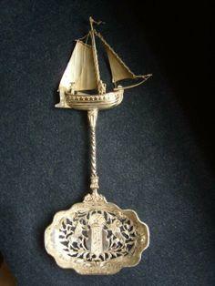 Stunning Dutch Silver Boat Spoon. Holland. 1902.