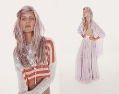 Ashen lilac hair + the American flag. In love with Wildfox Couture - made in LA.