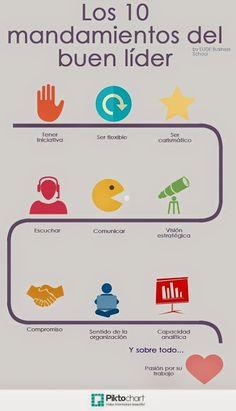 Los 10 mandamientos del buen líder. #liderazgo #leadership #infografia #infographic