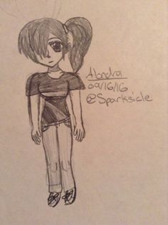 Bill's art style-Alondra, BillTer future daughter. Alondra is a character from @locksteina13 's Novel series, Nebula. Check out her profile and out board for her Nebula.