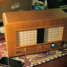 Audiophile Bluetooth Tabletop Stereo Speaker System > Artisan Crafted > Reclaimed 1940's Grundig Heinzelmann Radio > Made In CALIFORNIA, USA