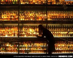 The worlds largest scotch whiskey collection, with 3,384 individual bottles.
