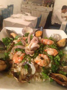 Insalata di orzo ai frutti di mare — presso ristorante  Le Nasse, Reggio Calabria, ITALY www.ubais.it