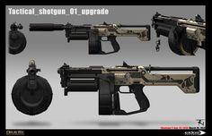 ArtStation - Deus Ex Mankind Divided: Tactical shotgun, Trong-K. Nguyen