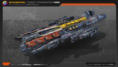 ArtStation - Newest Spaceships low-res 3D Models, Stephane Chasseloup
