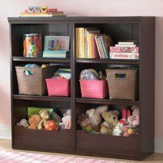 "Flat Top Bookcase, 48"" (Espresso)  www.landofnod.com/flat-top-bookcase-48-espresso/f4269"