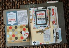 graduated file folder scrapbook  but how is this put together?