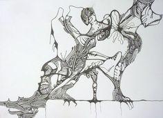 "Saatchi Online Artist Elena Mauri; Drawing, ""I love you"" #art"
