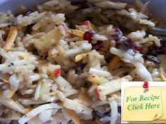 This Wild Rice Apple Salad Recipe is a great winter salad and is a refreshing break from winter foods. Winter Salad, Winter Food, Apple Salad Recipes, Wild Rice, Salads, Foods, Chicken, Food Food, Salad
