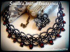 Spitzen Sie tatted Halskette Halskette und von gaestattedtreasures