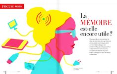 Serie of illustrations for Clés magazine