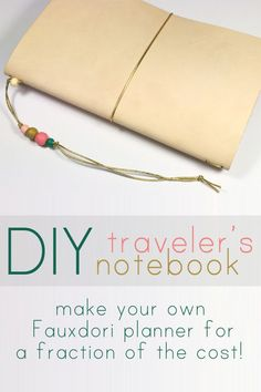 DIY Midori-Style Traveler's Notebook Tutorial - make your own Fauxdori planner for a fraction of the cost! Travelers Notebook, Notebook Covers, Journal Notebook, Handmade Books, Handmade Journals, Book Binding, Bujo, Mini Albums, Creations