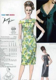 Moda Vintage, Moda Retro, 1960s Fashion, Look Fashion, Vintage Fashion, Fashion Design, Fashion Details, Robes Vintage, Vintage Dresses