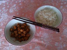 tofu alla paprica con riso basmati