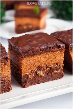 Ciasto z musem czekoladowym i wafelkami - I Love Bake Breakfast Menu, Dessert Recipes, Tasty, Sweets, Cookies, Chocolate, Baking, Cake, Food
