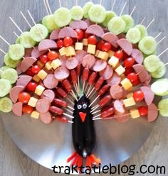 Children's Treats: Peacock with body or eggplant(Change to turkey)