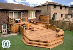 41 Amazing Modern Deck Designs For Your Backyard Space - Possible Decor Cool Deck, Diy Deck, Rustic Deck, Modern Deck, Backyard Patio Designs, Patio Decks, Backyard Ideas, Terrace Design, Deck Plans