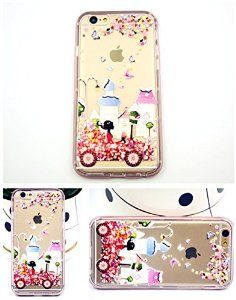 iPhone 6 case with Flower Car for girls, iPhone 6 TPU soft case for girls, iPhone 6 4.7'' back soft cover(Pink)