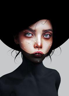 Digital drawing by Laura H. Boy Art, Art Girl, Aura Photo, Photoshop Face, Human Painting, Dark Wallpaper Iphone, Female Face Drawing, Dope Cartoon Art, Digital Painting Tutorials