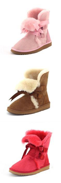 Mg new winter women sheepskin wool low heel flat shoes keep warm mid-calf boots snow boots d bootstrap #boots #17 #boots #4 #troops #boots #macys #boots #resoled